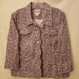 Scalloped Edge Purple/Cream Jacket